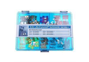 A.S.I Sortiment-Flachstecksicherungen 75-teilig 3A, 5A, 7,5A, 10A, 15A, 20A