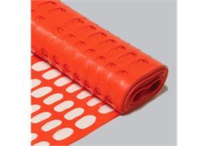 Absperrzaun orange Höhe 1.5m aus PP PEFLEX 160 Rolle à 50m