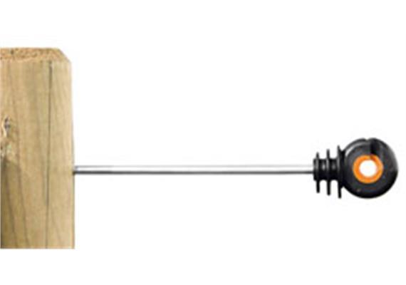 Abstand - Isolator Gallagher XDI schwarz/orange mit HOLZGEWINDE 20cm 10Stk.