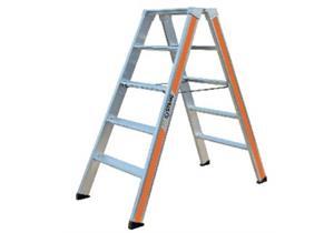 ALU Doppelstufeleiter HB Typ 200 2x3 Stufen L 0.75 B 0.49 H 0.7m Gewicht 5.3kg