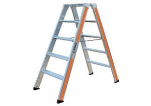 ALU Doppelstufeleiter HB Typ 200 2x6 Stufen L 1.44 B 0.56 H 1.32m Gewicht 9.4kg