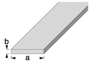 ALU Flachprofil 30 x 2mm, eloxiert F1 farblos, Normprofile, L=1 Meter