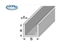 ALU U-Profil 10 x 1.5 mm Länge 1 m