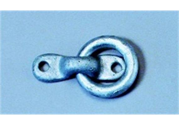 Anbindering mit Halteplatte Ø 12mm Messing
