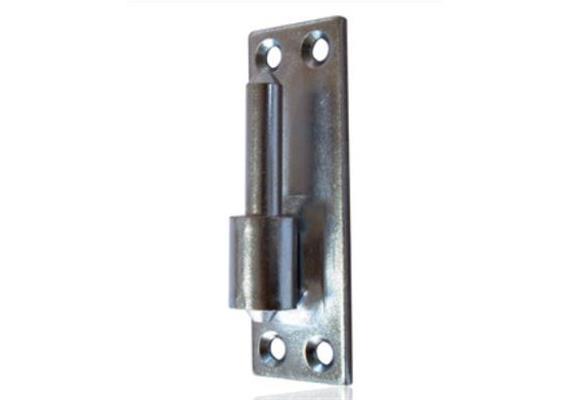 Aufschraubkloben Stahl verzinkt nieder Platte 45 x 130 Platte-Mitte Dorn Ø 14mm