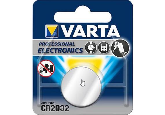 Batterie Varta Lithiumknopf CR 2032 3V 230m/Ah