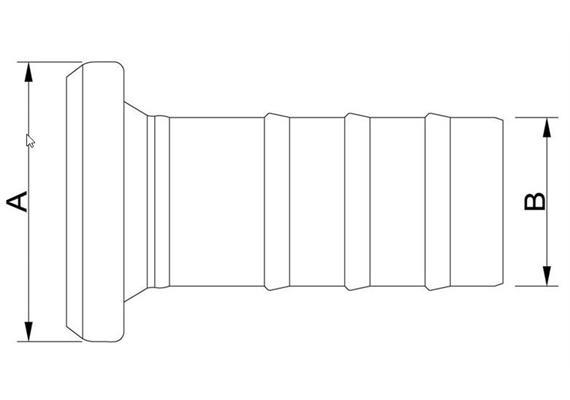 Bauer Schlauchtülle mit Becher und Dichtung verzinkt 108 x 108mm