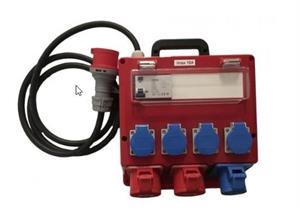 Baustromverteiler Anschlusskabel 5x4mm² 2 Meter Gummi-Kunststoff 2x CEE 16A 5Polig 400V