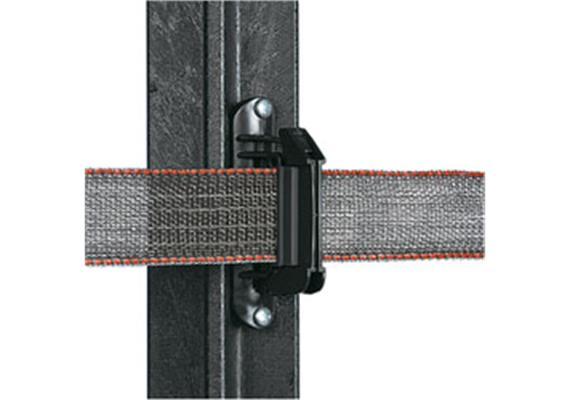 Breitband Isolator Gallagher Super schwarz mit 2 Gummischeiben zum Schutz des - 40mm Bande