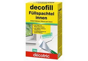 Decofill Füll- Gibsspachtel, weiss, innen, zum Mauerwerk glätten, füllen von Rissen/Löcher
