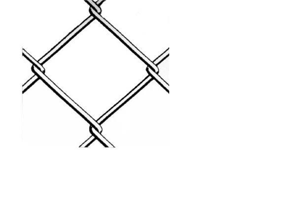 Diagonalgeflecht stark verzinkt H 2000 Masche 50 Draht Ø 2,5mm