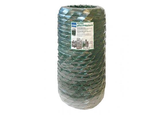 Diagonalgeflecht verzinkt+grün plastifiziert Masche 50 Draht 2,3/2,8 Breite 1200mm