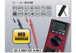 Digital Multimeter Cat. II 1000V Cat. III 600V