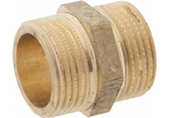 "Doppelnippel Messing Nr. 280 zylindrisch Ø 3/4 x 3/4"""