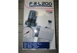 """Druckreduzierventil, Wasserabscheider und Öler 1/2"""" FRL-200 16 bar"""