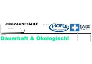 Eichmann Zaunpfahl Ø 7 L 1400mm, für Pferde- und Wildschutzzäune, inkl. 2 Klemmen