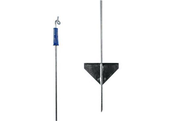 Federstahlpfahl Gallagher mit blauem Spitzenisolator L 1.1 für Zaunhöhe 0.85m