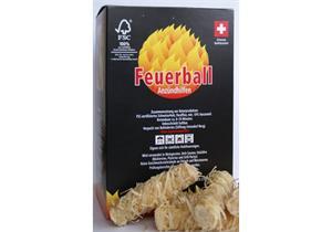 Feuerball Anzündhilfen in der Kartonbox - 1 Box 600gr. ca. 40 Stück (Netto)