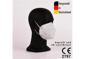 FFP2 Atemschutz Halbmasken zertifiziert CE2797, hergestellt in Deutschland