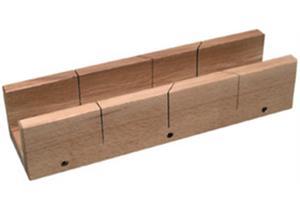 Gehrungs-Schneidladen Buchenholz 19mm dick, für Winkel von 45° und 90°
