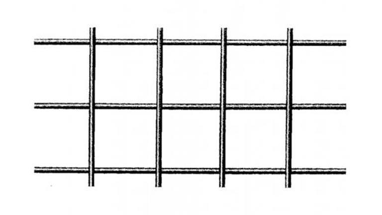 Geschweisstes Gitter 20 x 20 x 2.5mm aus blankem Eisendraht 1.25 x 2.5m