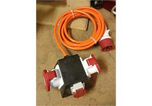 Gummi-Box CEE 16 mit 2 Dosen 5P + 1 x T25 5m + PUR 5 x 2.5 + Stecker
