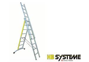 HB ALU Mehrzweckleiter 3 x 8 Sprossen L 2.42/4.1/5.55m 17kg - AKTION - TOP ANGEBOT