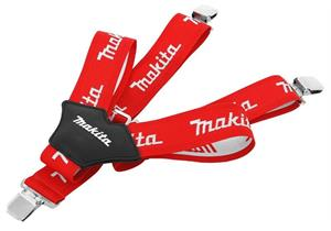 Hosenträger rot/weiss Makita