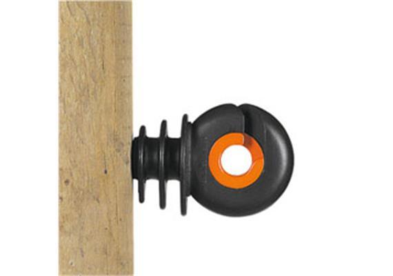 Isolator Gallagher XDI schwarz/orange mit Holzgewinde 25Stk.
