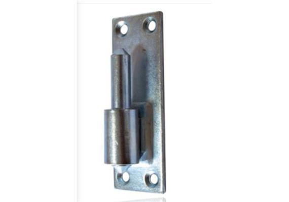 Jalusie-Aufschraubkloben Stahl verzinkt Platte 100 x 35 Dorn Ø 11mm