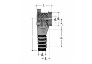 JRG Sanipex Dose 90° Dosenkörper zweiteilig aus Kunststoff GN-d ½-12