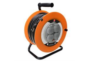 Kabelrolle 33m GDV 3 x 1.5mm2 IP44 Steckdose 4xTyp 13 Für Baustellen + Garten