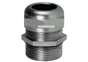 Kabelverschraubung Messing vernickelt M25 für Kabel Ø 8 - 16 Gewindelänge 7mm