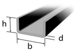 Kaltgerolltes U-Profil 60 x 60 x 4mm, Stahl S235JR