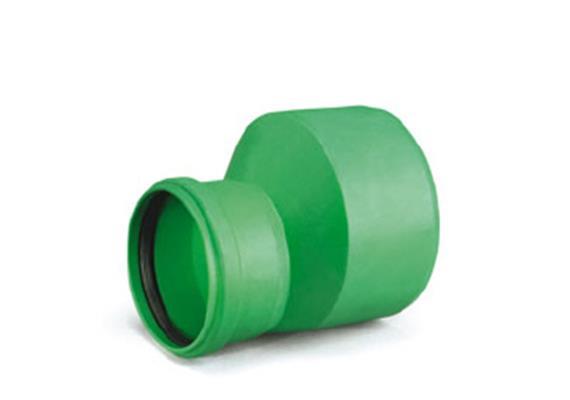 Kanalrohr - Reduktion AWADUKT PP SN4 D160 - 125mm mit Dichtung