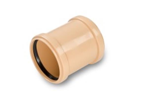 Kanalrohr Überschiebemuffe PP-HM SN8 S 13.3 Ø 110mm gespritzt mit Dichtung füllstofffrei