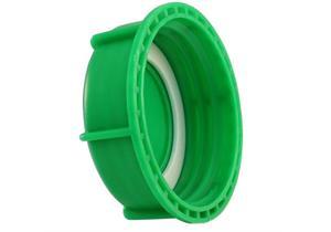"""Kannendeckel 3"""" grün, passend auf 1000L IBC Container Wassertank mit Stahltransportgestell"""