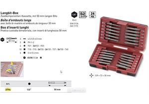 """Kraftwerk Bit-Box 1/4"""" mit langen Bits 50mm 24-tlg."""