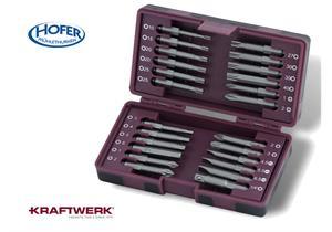 Kraftwerk-Tools 24-teilige1/4 ergokraft-Bit-Box m. langen 50mm Bits