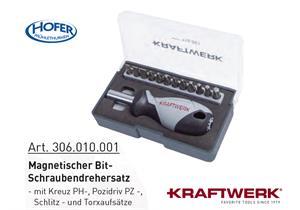 Kraftwerk-Tools Magnetische Bit-Schraubendrehersatz Box