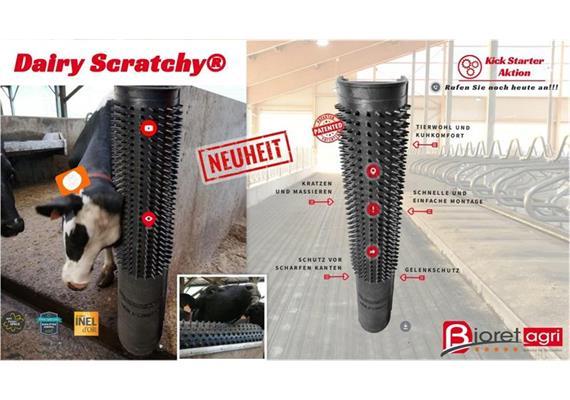 Kratzmatte für Kühe - Scratchy schützt Pfosten und Betonecken B=50cm x H=150cm