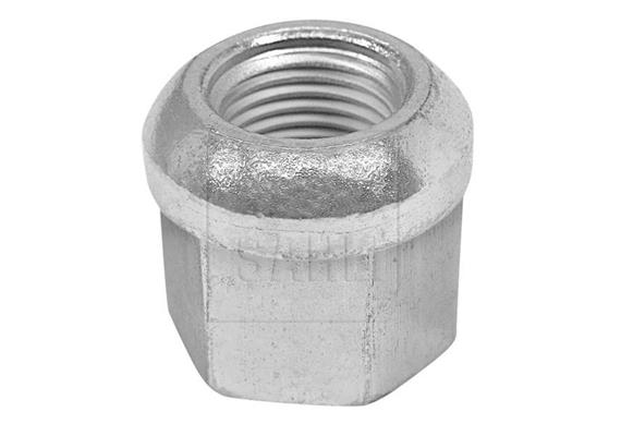 Kugelbundmutter M18 x 1.5 H 25 SW 24 Bund 28mm