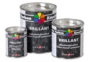 Kunstharz-Emaillack Brillant 375 ml, verkehrsorange Ral 9009 + Fr.0.36 VOC Taxe