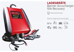 Ladegerät Banner Accucharger 10A 12V Recovery, bis Batteriekapazität 230Ah empfohlen