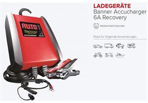 Ladegerät Banner Accucharger 6A 12V Recovery, bis Batteriekapazität 130Ah empfohlen