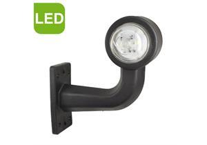 LED Umrissleuchte rot/weiss 12/24V 137x155x75mm m. Gummisockel