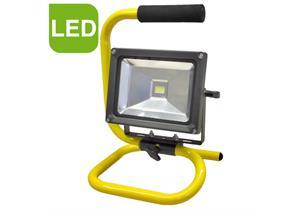 LED Werkstattleuchte Akku 20W mit Ladegerät 12V, USB Kabel, leuchtet 3.5 Stunden