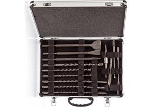 Makita D-42444 SDS-Plus Bohrer- und Meisselset im Alu-Koffer, 17-teilig