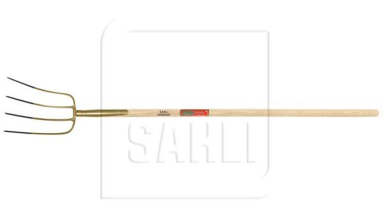 Mistgabel - SAHLI Superieur, 4 Zinken, B 170mm, Zinkenlänge 260mm, Stiel 1350 / Ø34mm