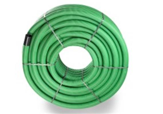 PE Drain-Flex-Rohr gerollt geschlitzt, grün NW 80 Ø 90 x 77mm innen glatt